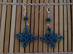 "Earrings ""Blue arabic"""