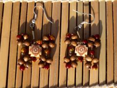 "Earrings ""Brown arabic"""